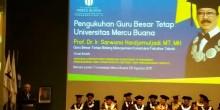 Pengukuhan Guru Besar Tetap Universitas Mercu Buana